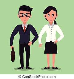 Business partners cartoon