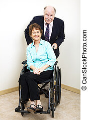 Business Partners - Disability - Disabled businesswoman and...