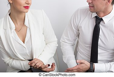 Business partners during meeting
