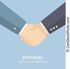 Business partners handshake.