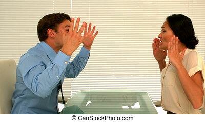 Business partners having an argumen - Business partners...
