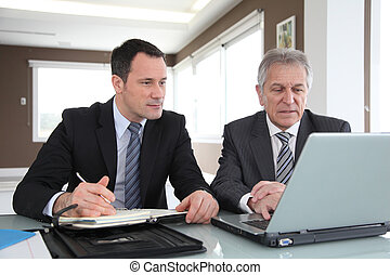 Business partners in work meeting