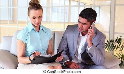 Business partners planning togethe