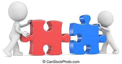 Business Partners. - Dude the partners x 2 putting puzzle...