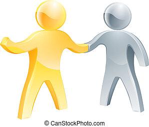 Business partnership concept