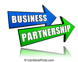 business partnership in arrows