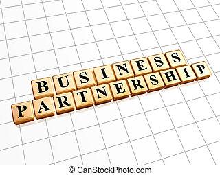 business partnership in golden cubes
