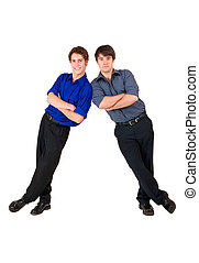Business People #6 - Two business partners leaning on each ...