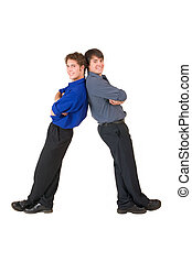 Business People #7 - Two business partners leaning on each...