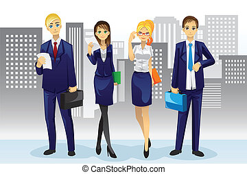 Business people - A vector illustration of business people...