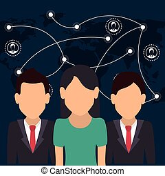 business people and network design