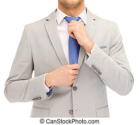 businessman in suit and tie
