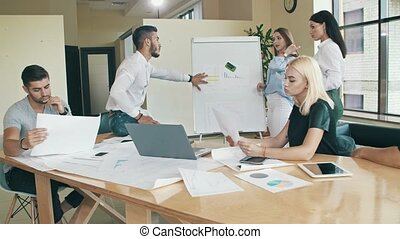 Business people are working together