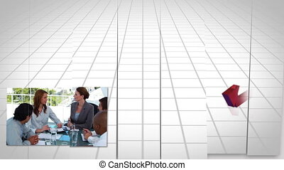 Business people at a meeting - Animation of business people...