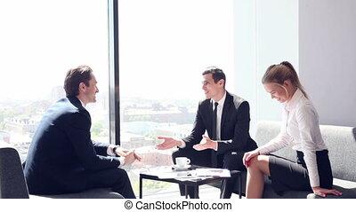 Business people at coffee break
