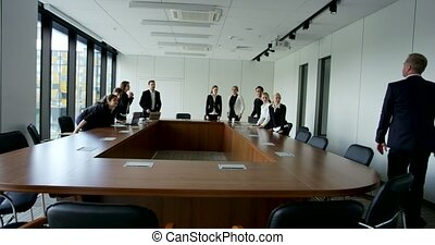 Business People at corporate meeting