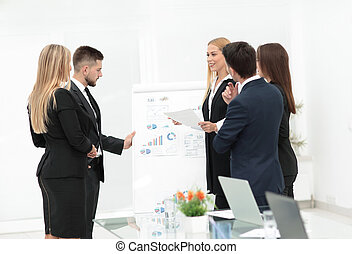 Business people at presentation in office
