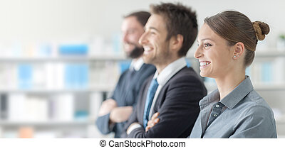 Business people at the seminar - Confident business people ...
