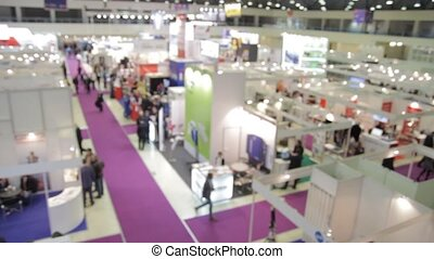 Business people at the trade fair