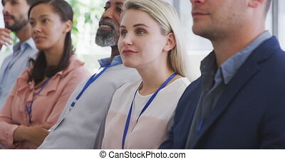 Business people attending to a meeting in conference room - ...