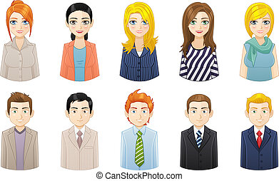 Business people avatar icons set