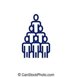 business people avatars pyramid form