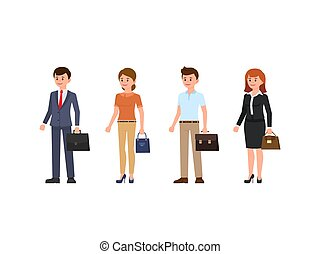 Business people cartoon character set