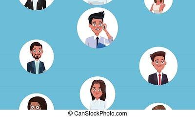 Business people cartoons HD animation
