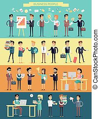 Business People Characters Vector Set