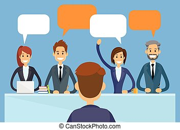 Business People Chat Discussing Communication
