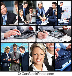 Business people collage.