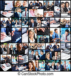 Business people collage. - Business people team working in ...