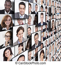 Business People Collage