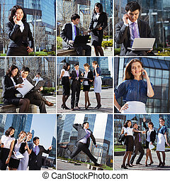 Business people collage made of some different elements