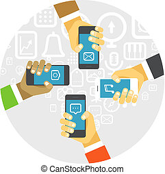 Business people communication concept