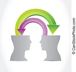 business people communication illustration