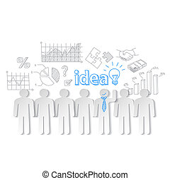 Business people communication teamwork idea vector
