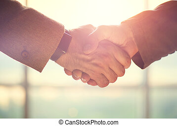 Business people concept. Two men shaking hands. Partnership