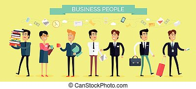 Business People Concept Vector in Flat Design