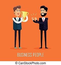 Business People Concept Vector in Flat Design.
