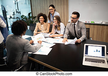 Business people conference and meeting in modern office