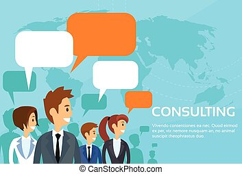 Business People Consulting Group Talking Discussing Chat