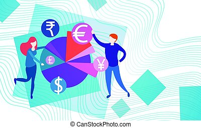 Business People Currency Sign Money Exchange Concept