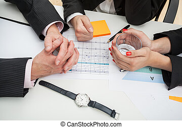 Business people discussing a new strategy