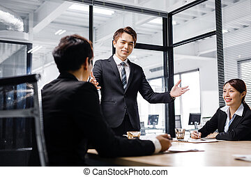 business people discussing  in conference room