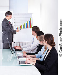 Business People Discussing Project