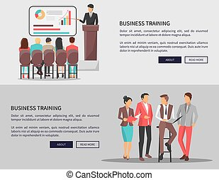 Business People Disscussing on Vector Illustration