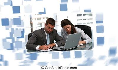 Business people during meetings