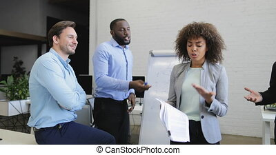 Business People Group Argue On Meeting, Team Conflict,...