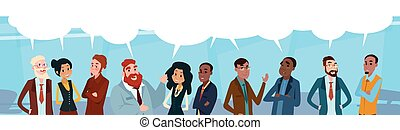 Business People Group Chat Communication Bubble, ...